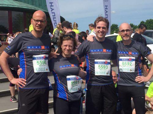 Onze kanjers, van links naar rechts: Bart Hagtingius, Evelien Tops, Jan van Vorstenbosch en Theo van Zanen