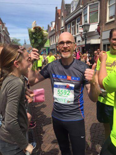 Theo van Zanen, trots op zijn prestatie