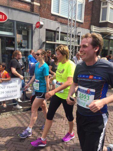 Jan van Vorstenbosch legt het parcours lachend af